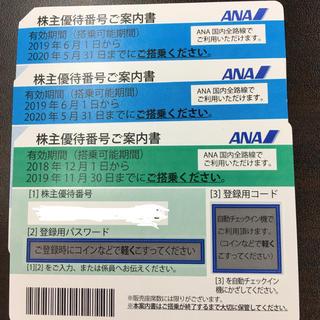 ANA(全日本空輸) - ANA株主優待 3枚