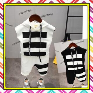 キッズ 子供 ノースリーブ セットアップ 韓国子供服 男の子 2点セット(Tシャツ/カットソー)
