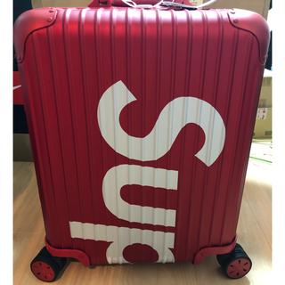 シュプリーム(Supreme)のsupreme rimowa 45L red(トラベルバッグ/スーツケース)