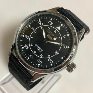 SEIKO - セイコー SEIKO 5 自動巻き メンズ腕時計 新品未使用品 ブラック