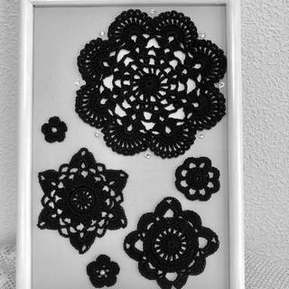 レース編みモチーフのフレーム♡(インテリア雑貨)