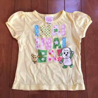シマムラ(しまむら)の美品 しまむら いないいないばぁっ!ワンワン うーたんTシャツ イエロー80cm(Tシャツ)