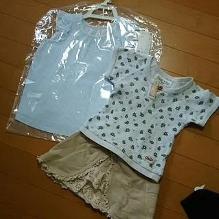 ユニクロ(UNIQLO)の新品あり☆女の子三点セット①(Tシャツ/カットソー)