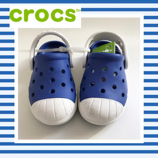 クロックス(crocs)のクロックス 正規品 13 c6 ブルー系 男の子 シューズ 靴 サンダル(サンダル)