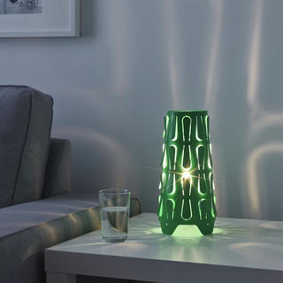 イケア(IKEA)のIKEA イケア kajuta グリーン ナイトテーブル用 ライトカバー(フロアスタンド)