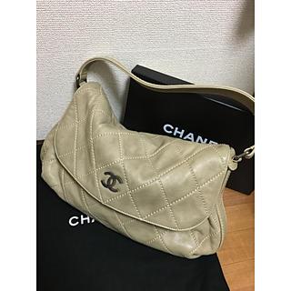シャネル(CHANEL)のシャネル CHANEL  ハンドバッグ ラムスキン ベージュ 金具シルバー 美品(ハンドバッグ)