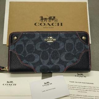 COACH - 正規品 コーチ COACH 財布 アウトレット F53769デニムレザー アコー