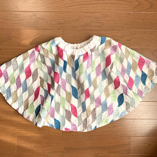 ミナペルホネン(mina perhonen)の刺繍生地サーキュラースカート ハンドメイド120(スカート)