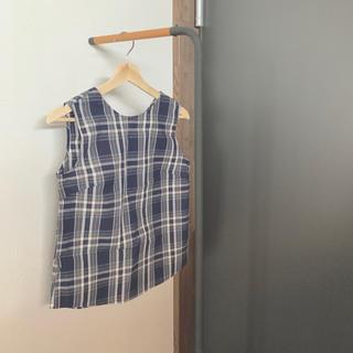 ジーユー(GU)のブラウス ノースリーブ チェック ⋆ GU(シャツ/ブラウス(半袖/袖なし))