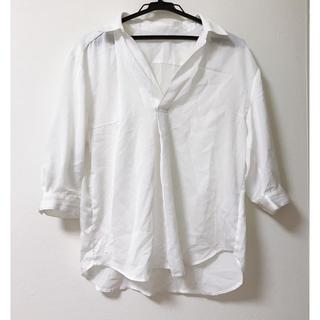 バイバイ(ByeBye)の新品♡白シャツ♡カッターシャツ♡カットソー(シャツ/ブラウス(長袖/七分))