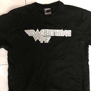 アベイシングエイプ(A BATHING APE)のエイプ tシャツ  Lサイズ ブラック(Tシャツ/カットソー(半袖/袖なし))