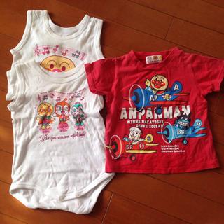 バンダイ(BANDAI)のロンパースとTシャツのセット アンパンマン(ロンパース)
