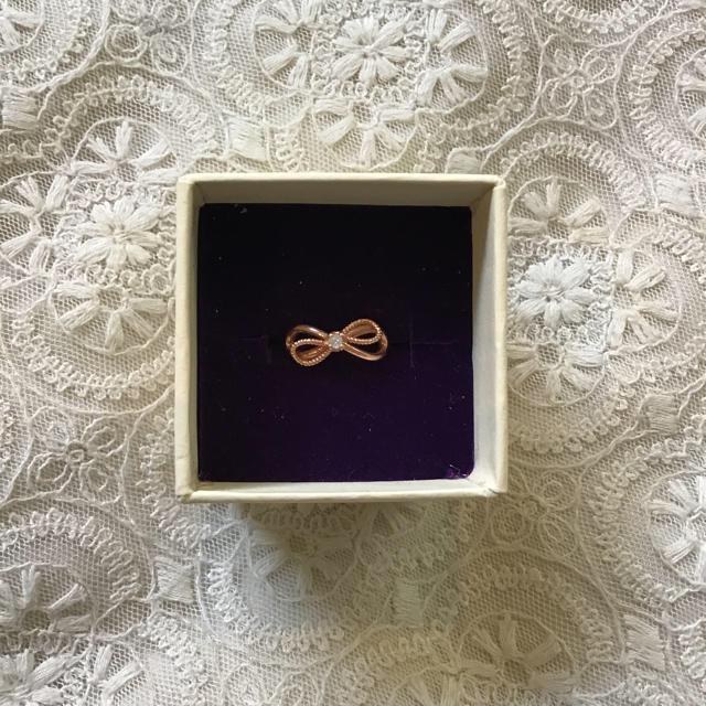agete(アガット)のagete のピンクゴールドのピンキーリング メンズのアクセサリー(リング(指輪))の商品写真