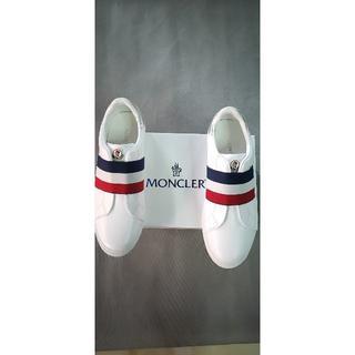 MONCLER - フラットシューズ/白い/メンズ  27cm