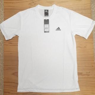 アディダス(adidas)の新品タグ付き 白 アディダス ドライ Tシャツ(Tシャツ/カットソー(半袖/袖なし))