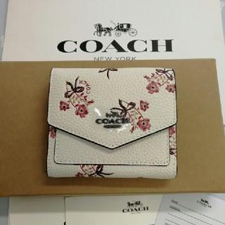 COACH - COACH コーチ 花柄 三つ折り財布  28445