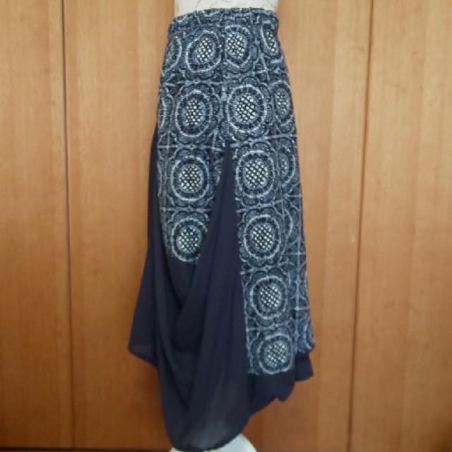 antiqua(アンティカ)のレース×無地変形スカートM レディースのスカート(ロングスカート)の商品写真