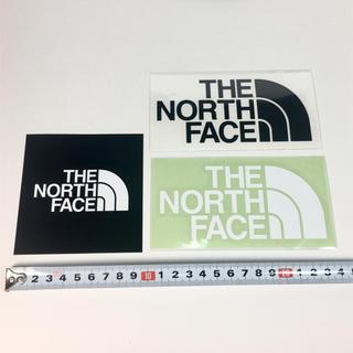 ザノースフェイス(THE NORTH FACE)のノースフェイス ステッカー 3点 ☆ ブラック ホワイト!!(その他)