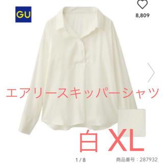 ジーユー(GU)の美品☆GU  エアリースキッパーシャツ  XL(シャツ/ブラウス(長袖/七分))
