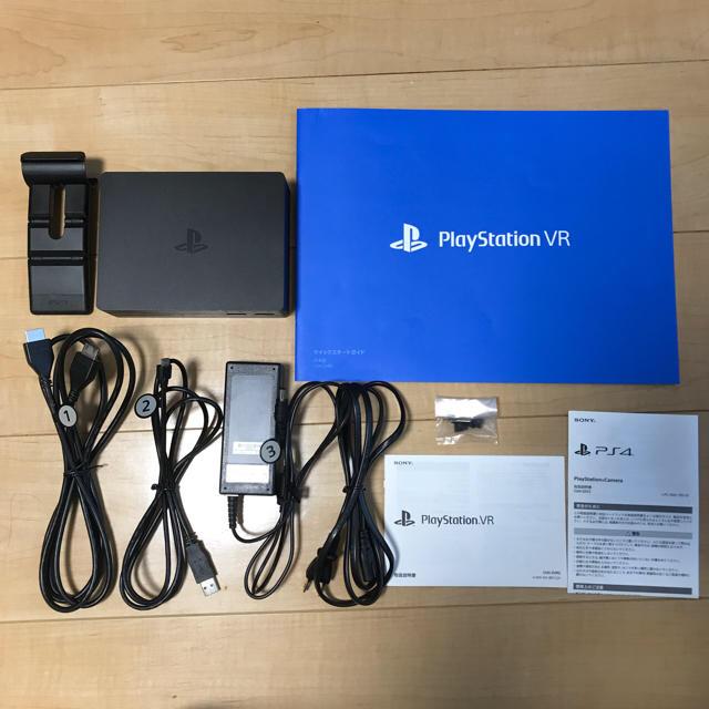 PlayStation VR(プレイステーションヴィーアール)のpsvr カメラ同梱版 後期型CUHJ-16003  エンタメ/ホビーのテレビゲーム(その他)の商品写真