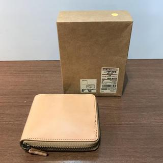 ムジルシリョウヒン(MUJI (無印良品))の無印良品 二つ折り財布 イタリア産ヌメ革 ラウンドファスナー(折り財布)