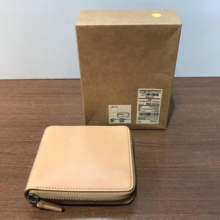 ムジルシリョウヒン(MUJI (無印良品))の無印良品 二つ折り財布 イタリア産ヌメ革 ラウンドファスナー(財布)