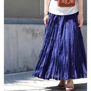 Noble - 2019SS MARIHA 草原の虹のスカート ネイビー 別注サイズ