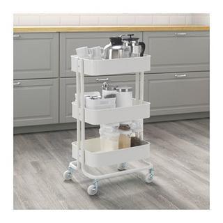 イケア(IKEA)の限定【新品・送料込み】IKEAイケア RASKOG ワゴン, ホワイト(キッチン収納)