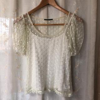 アウラアイラ(AULA AILA)のpipi様専用  AULA AILA  水玉ブラウス Tシャツ(Tシャツ(半袖/袖なし))