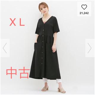 ジーユー(GU)のGU☆ フロントボタンワンピース(半袖) (ロングワンピース/マキシワンピース)