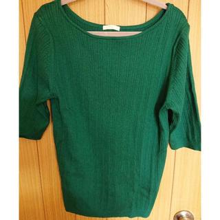 ジーユー(GU)のGU リブニット シャツ(Tシャツ(半袖/袖なし))