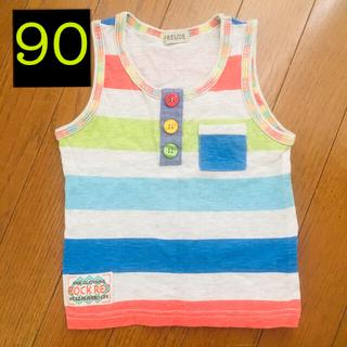 シマムラ(しまむら)の90サイズ カラフルタンクトップ(Tシャツ/カットソー)