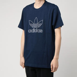 アディダス(adidas)の新品 adidas アディダス Tシャツ メンズ M ネイビー アウトライン(Tシャツ/カットソー(半袖/袖なし))
