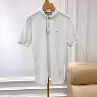バーバリー(BURBERRY)のBURBERRY☆定番メンズポロシャツ☆OXFORD:ABOWN☆ホワイト(Tシャツ/カットソー(半袖/袖なし))