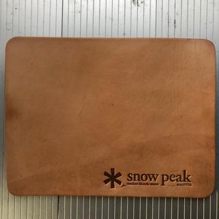 スノーピーク(Snow Peak)のレア スノーピーク 本革マウスパッド(PC周辺機器)