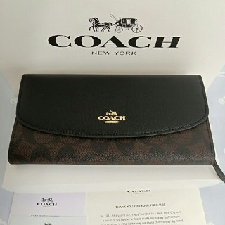 コーチ(COACH)のコーチ COACH ファッション ボタン開閉式 長財布 F54022(長財布)