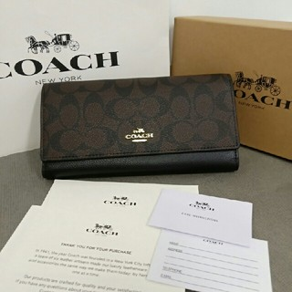 COACH - 大人気 COACH(コーチ)正規品 長財布 F53763