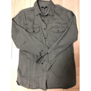 UNIQLO - ユニクロ ミリタリーシャツ カーキ リネンシャツ GU H&M ザラ 無印