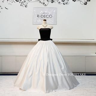 af3fd5feb4c35 ウエディングドレス(パニエ無料) ブラック&ホワイトaライン 披露宴 二次会(ウェディング