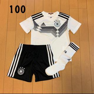 アディダス(adidas)の新品未使用 アディダス 100㎝ サッカージュニア ドイツ代表ユニフォーム YQ(ウェア)