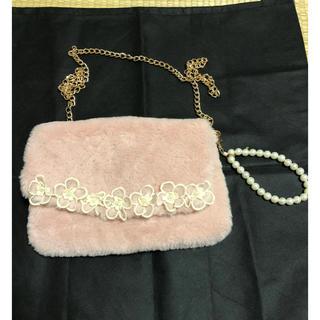 リズリサ(LIZ LISA)のリズリサ☆ポーチ型バッグ!ショルダー用チェーン付き!パーティー、二次会などに(ショルダーバッグ)