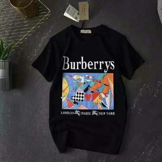 バーバリー(BURBERRY)のバーバリー Tシャツ 黒 白 L カップル ユニセックス(Tシャツ/カットソー(半袖/袖なし))
