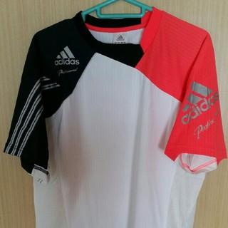 アディダス(adidas)のadidas professional Tシャツ ホワイト レッド(Tシャツ/カットソー(半袖/袖なし))