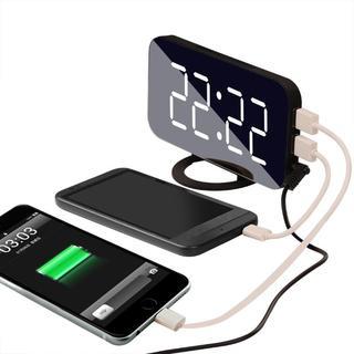 USB充電ポート付き インテリア時計368