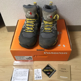 Caravan - キャラバンcaravanトレッキングシューズ23.0cm富士登山靴グレー