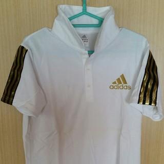 アディダス(adidas)のadidas アディダス ポロシャツ ホワイト ゴールド(ポロシャツ)