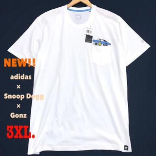アディダス(adidas)の3XL相当 新品 アディダス × スヌープドッグ × ゴンザレス  ポケT 白(Tシャツ/カットソー(半袖/袖なし))