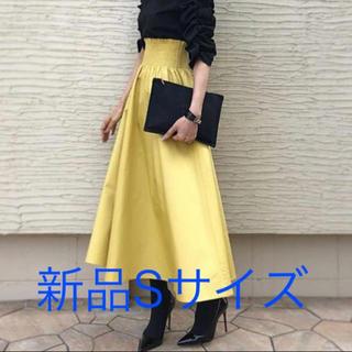 ジーユー(GU)のGU シャーリングフレアロングスカート Sサイズ(ロングスカート)
