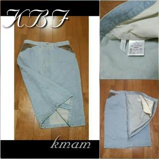 ケービーエフ(KBF)の【 KBF 】新品未使用  デニム異素材pスカート(ひざ丈スカート)