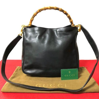 14957e6f7dde グッチ(Gucci)の美品 グッチ オールドグッチ バンブー 2way ハンドバッグ ショルダーバッグ(